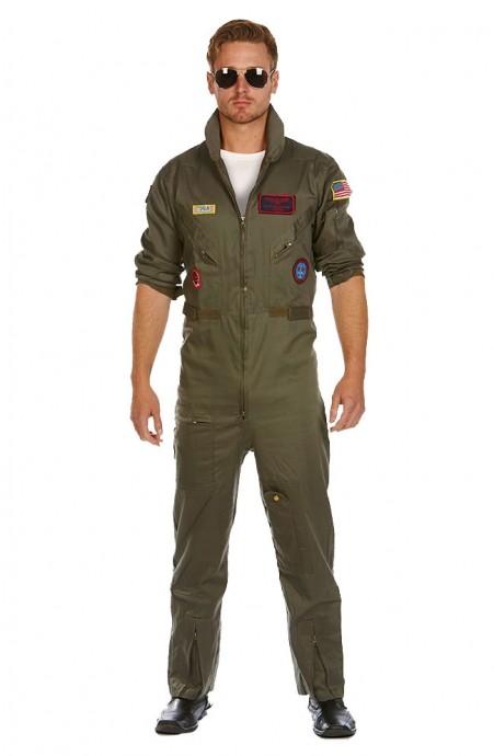 Aviator Costume Pilot Flight 80's Film Suit Pete Mitchell Maverick