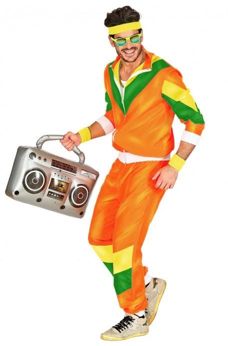 orange  Mens 80s Tracksuit Suit Costume lh237orange