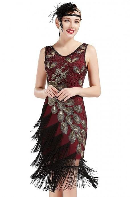 1920s Flapper Dress Costume lx1051r