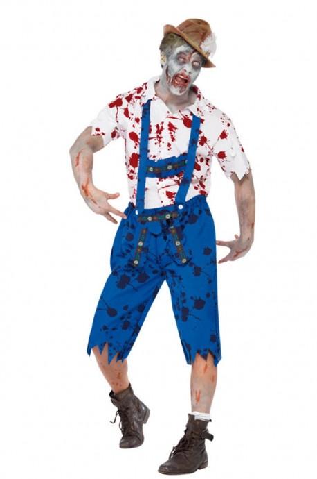 Mens Zombie Bavarian German Beer Costume lb2104