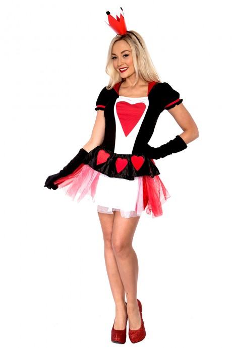 Alice In Wonderland Costumes - Ladies Queen of Hearts Alice in Wonderland Costume - LB7001_2