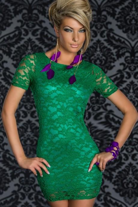 Green lace Club Wear