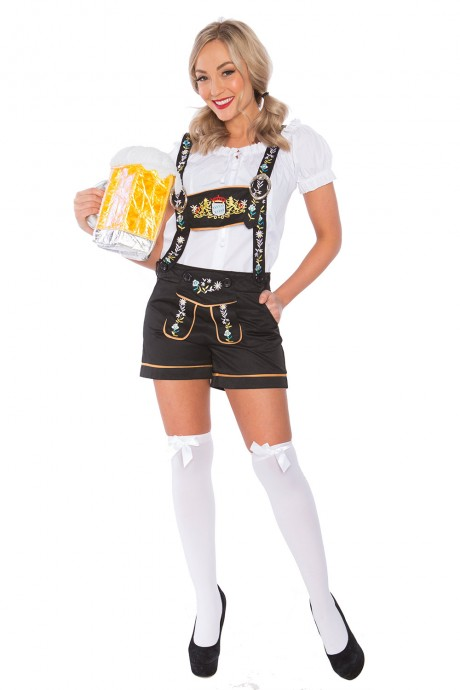Ladies beer maid lederhosen Costume lh304new