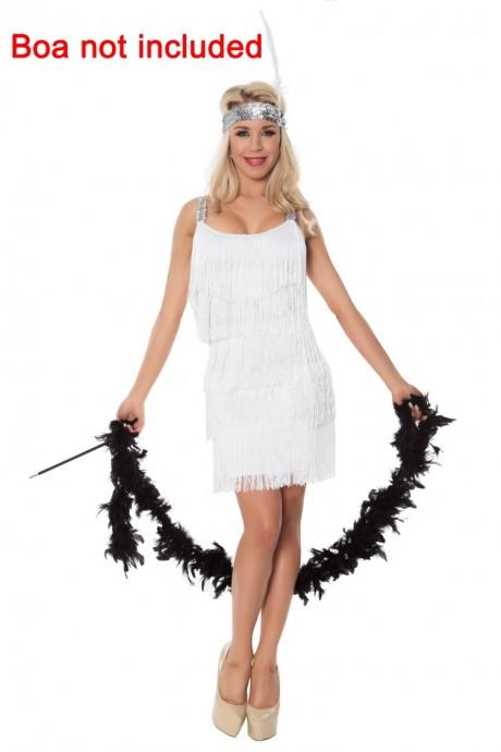 White Ladies 20s 1920s Charleston Flapper Costume lh340w