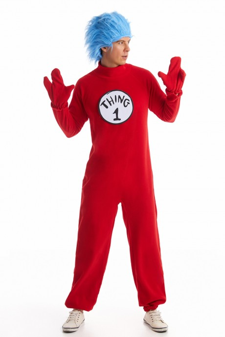 Adult Dr Seuss Thing 1 Thing 2 Jumpsuit  pp1006