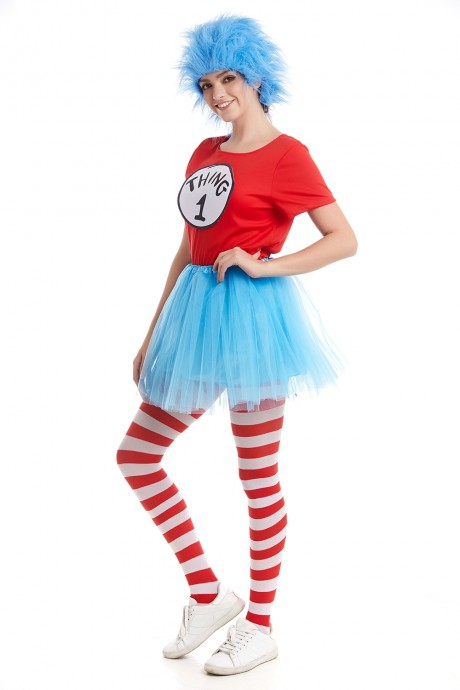 Women Dr Seuss Cat In The Hat Thing Costume Set pp1010+pp1013+lx3015-1+lx3016-1
