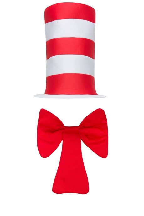 Adult Stripe Cat in the Hat Bow Tie Children Accessories Boys Girls Book Week Dr Seuss