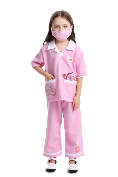 Child Nurse Doctor Girls Hospital Vet Book Week Kids Costume