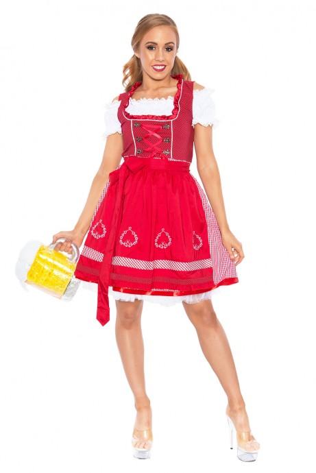 Ladies Beer Maid Oktoberfest Bavarian Wench German Heidi Fancy Dress Costume