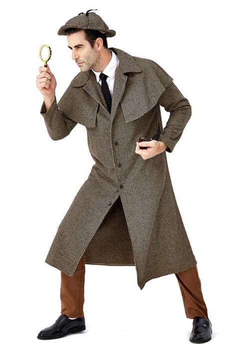 Adult Sherlock Holmes Victorian Detective Costume