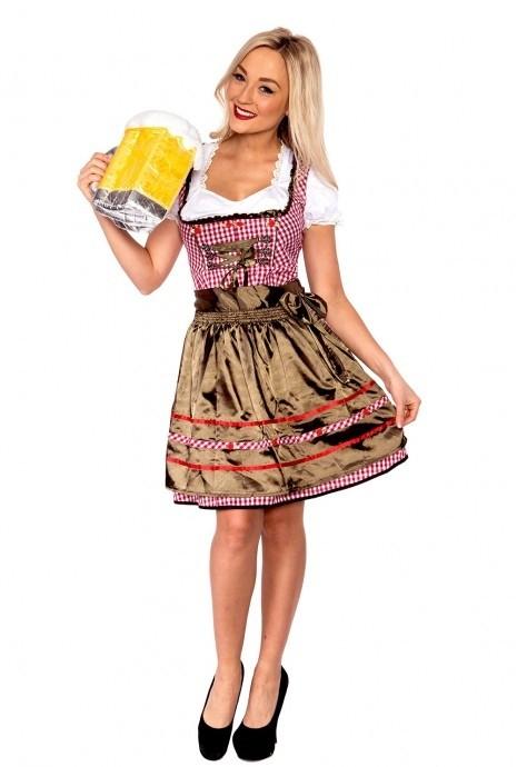 Ladies Oktoberfest Beer Maid Costume lh175g