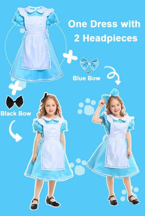 Alice in Wonderland Girls Costume Book Week Dress Kids