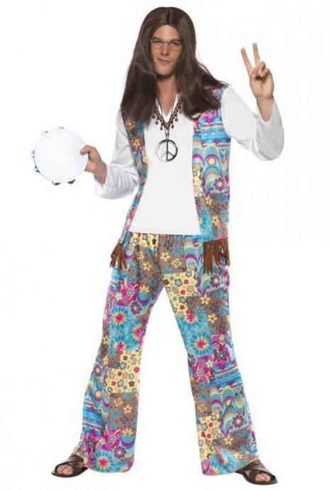 60s, 70s Costumes Australia - 1970s 70s Licensed Groovy Hippie Mens Fancy Dress 70s Party Retro Go Go Costume Disco