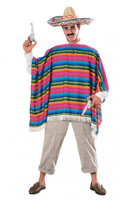 Spanish Mexican Poncho Serape Costumes CL-15750