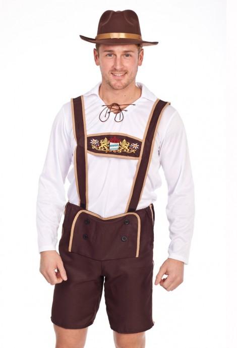 Mens Lederhosen Oktoberfest Costume lh202nohat