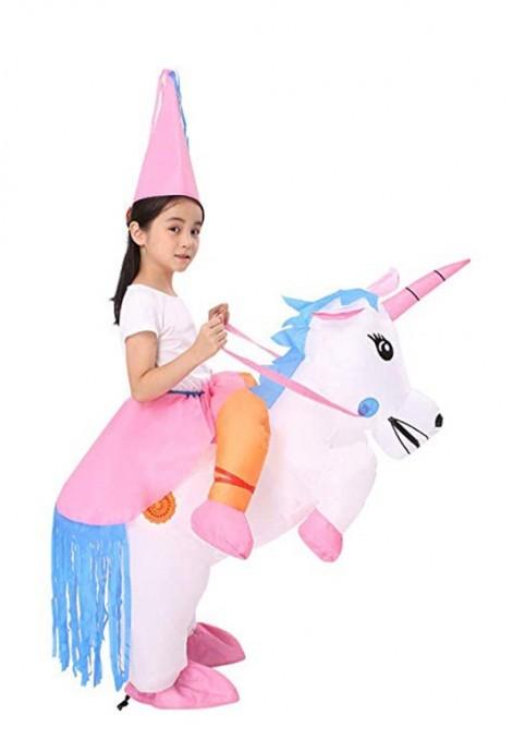 Kids Unicorn carry me inflatable costume 2018-2