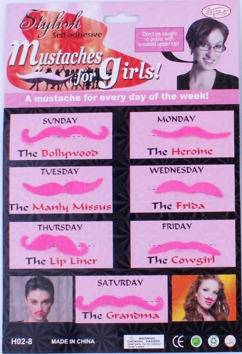 Pink Moustache party Set tt1112