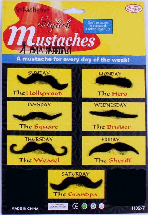 fake moustache pack