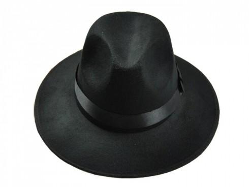 Gangster Hat Black Velour Licensed 20s Licensed Costume Accessories