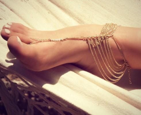 Bohemian Beach Multi Tassel Toe Anklet Chain Bracelet Barefoot Sandal Bridal Beach Foot Jewelry