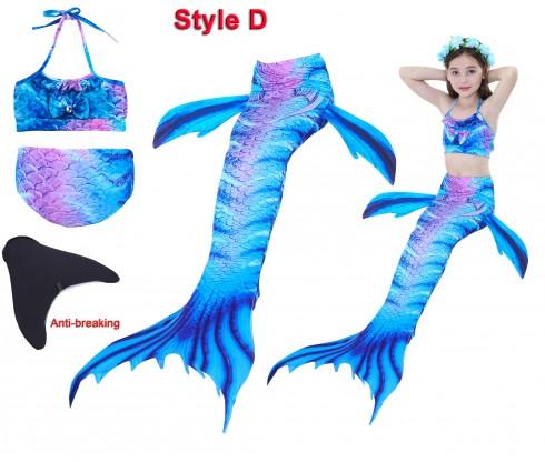 Kids Mermaid Swimsuit Costume with Monofin tt2027+tt2008-15