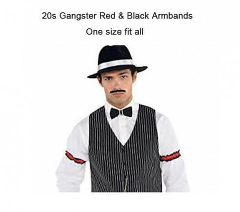 20s gangster red & black armbands