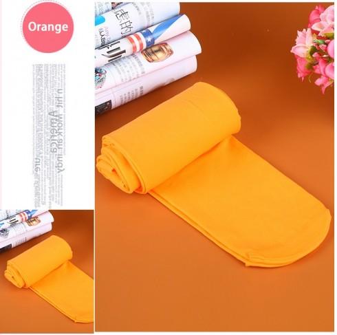 orange 80s 70s Disco Opaque Womens Pantyhose Stockings Hosiery Tights 80 Denier