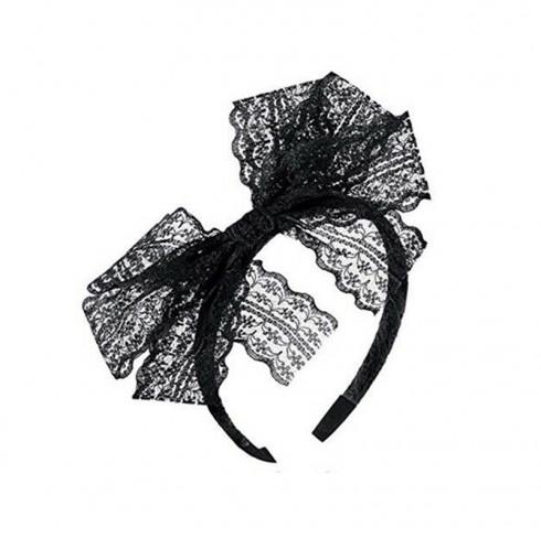 Black 80s Party Headband