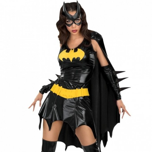 Womens Batgirl Ladies Super Hero Justice League Costume