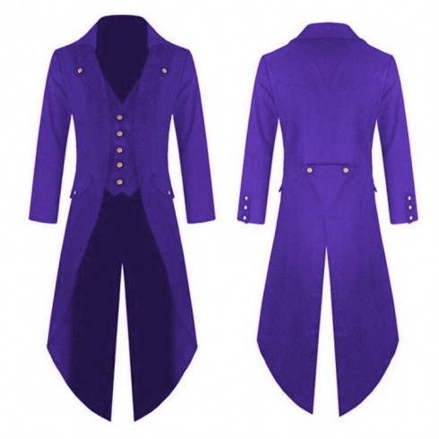 Purple STEAMPUNK TAILCOAT JACKET Magician