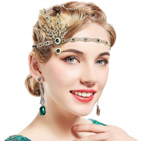 1920s Headband Vintage Bridal Great Gatsby Flapper Headpiece