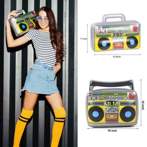 1980s Hip Hop Inflatable Boom Box Radio