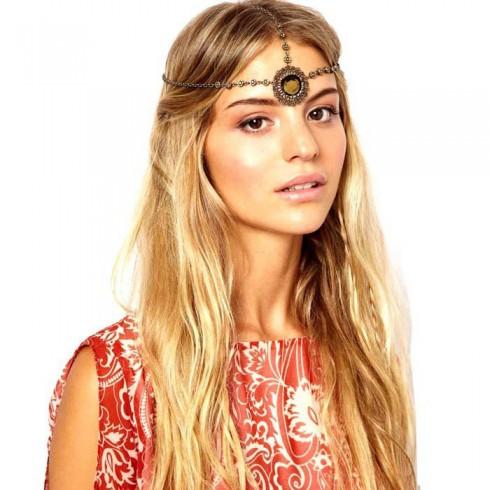 Bohemian Goddess Jewelry Deco Vintage Hairband 20s  Flapper Chain Headband Great Gatsby Downton Wedding Boho