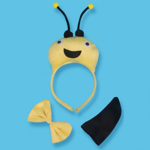 Bee Headband Bow Tail Set Kids Animal Farm Zoo Party Performance Headpiece