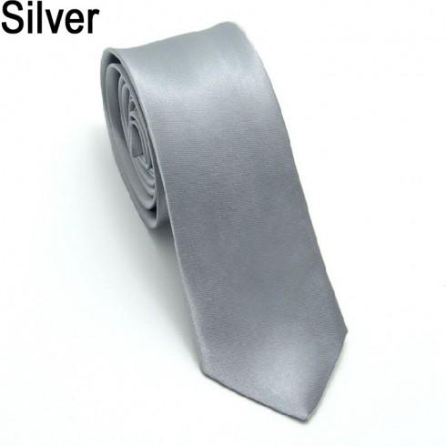 1920s Mens Silver Gangster Costume Tie Roaring 20s Gatsby Fancy Dress Costume Accessory