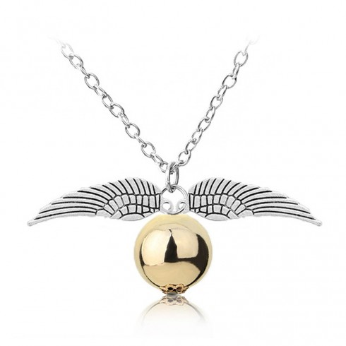 Quidditch Golden Snitch Gold Pocket Necklace Harry Potter Deathly Hallows