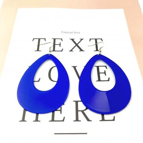 Teardrop Earrings Neon 80s Retro Rock Star Jewellery Costume Accessory
