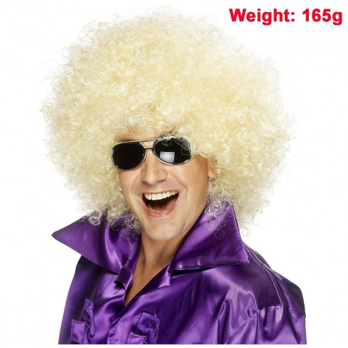 Funky Golden Unisex Afro Wig 50s