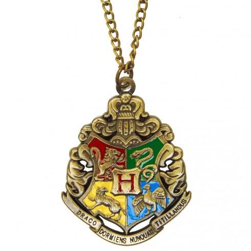 Harry Potter 4 House Hogwarts Necklace Gryffindor Ravenclaw Hufflepuff Slytherin