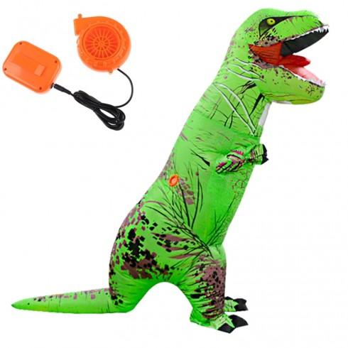 Green ADULT T-REX INFLATABLE Costume Jurassic Blowup Dinosaur TRex T Rex