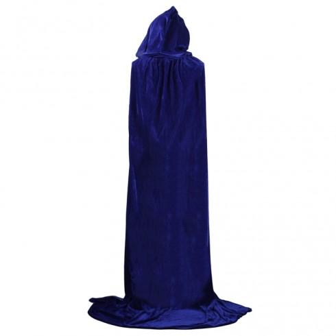 Blue Adult Hooded Cloak Cape Wizard Costume