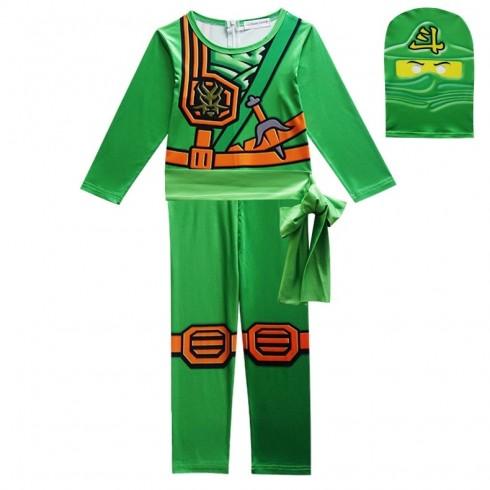 Green Ninjago Ninja Kids Costume