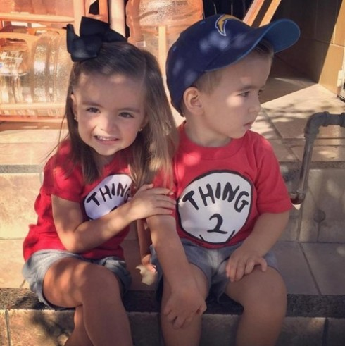 Kids Dr Seuss Cat In The Hat Thing 1 Thing 2 T-Shirt  PP1011