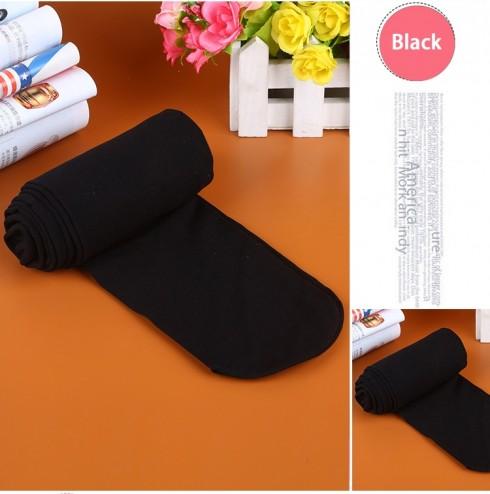 Black 80s 70s Disco Opaque Womens Pantyhose Stockings Hosiery Tights 80 Denier