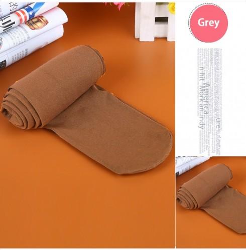 Grey 80s 70s Disco Opaque Womens Pantyhose Stockings Hosiery Tights 80 Denier