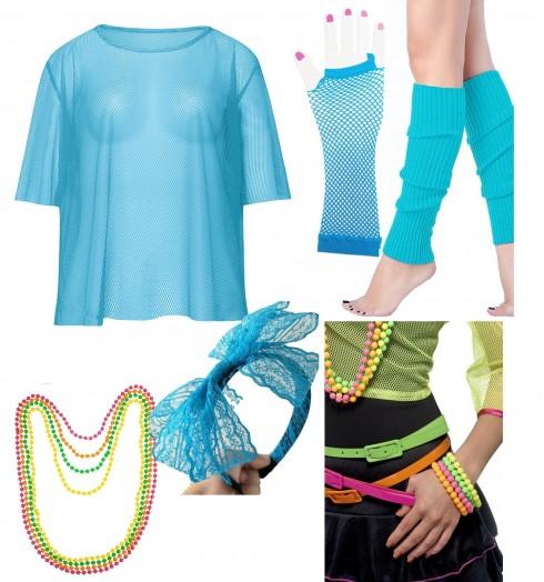Blue String Vest Mash Top Set