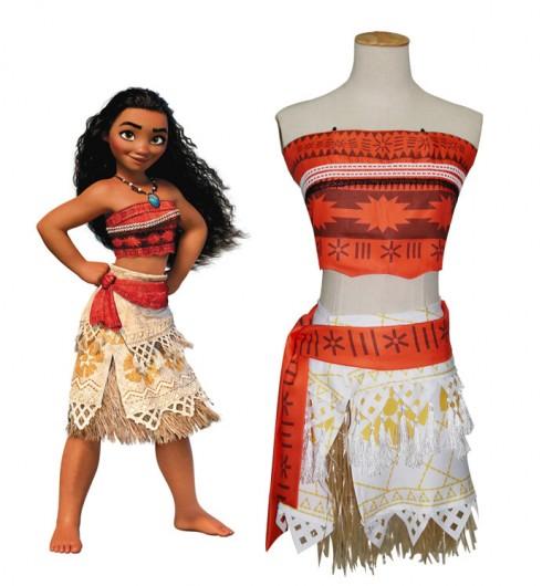 Moana Polynesia Princess Dress Girls Child Kids BookWeek Hawaiian Girls Costume Book Week