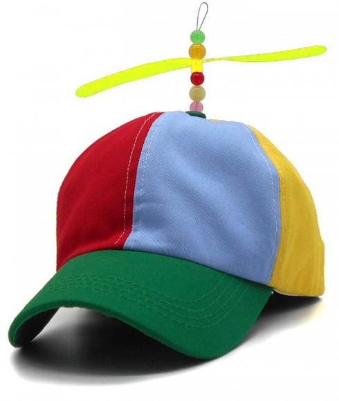 Kids Propeller Beanie Ball Cap Baseball Hat Multi-Color Clown Adjustable
