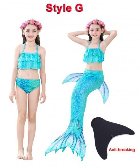 Kids Mermaid Swimmable Swimsuit Costume tt2030+tt2008-2