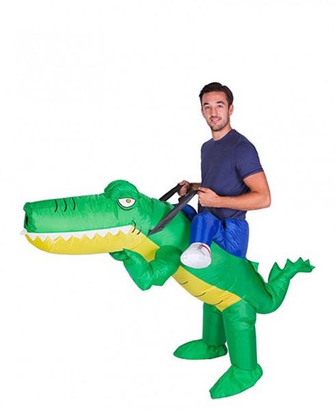 Crocodile alligator carry me inflatable costume 2019